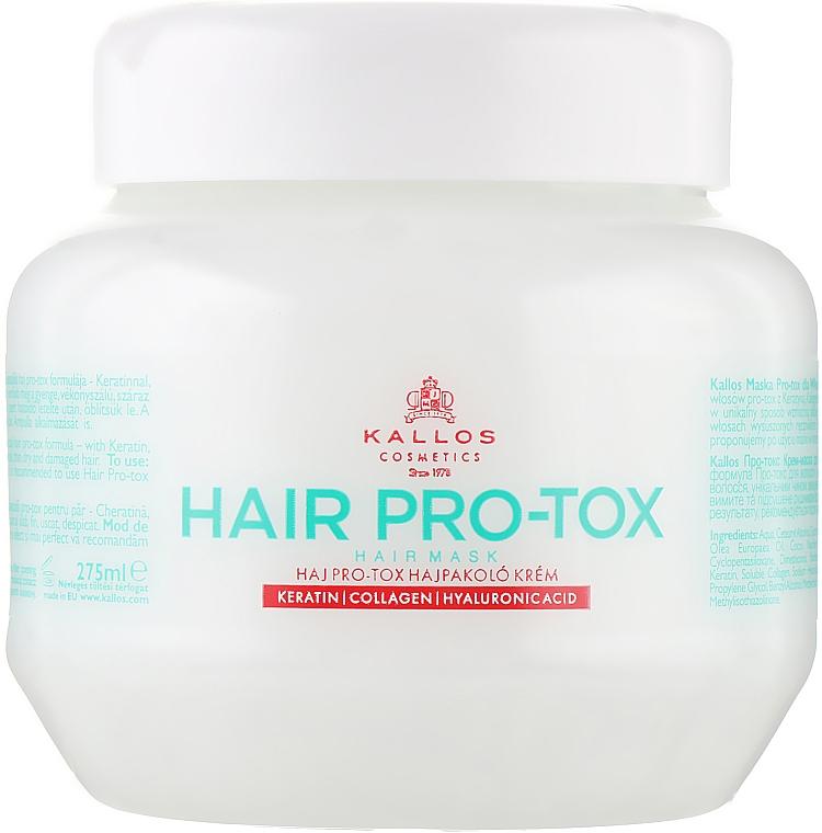 Maska do włosów Keratyna, kolagen i kwas hialuronowy - Kallos Cosmetics Hair Pro-Tox