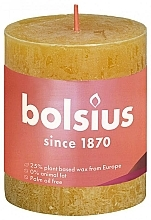 Kup Świeca cylindryczna, miodowo-żółta, 80/68 mm - Bolsius Candle Rustic Shine