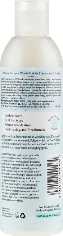 Naturalny delikatny szampon do włosów dla dzieci - Love Boo Natural Soft And Shiny — фото N2
