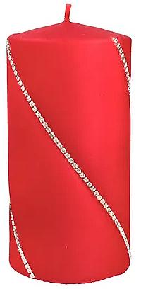 Świeca dekoracyjna, czerwona, 7 x 10 cm - Artman Bolero — фото N1