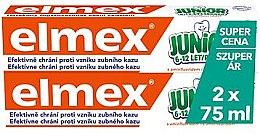 Kup Zestaw - Elmex Junior Toothpaste (2xtoothpaste/75ml)