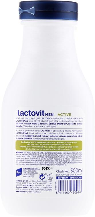 Żel pod prysznic 3 w 1 dla mężczyzn - Lactovit Men Active 3v1 Shower Gel — фото N2
