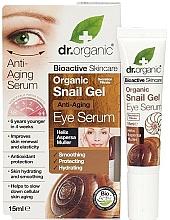 Kup Żelowe serum przeciwstarzeniowe pod oczy ze śluzem ślimaka - Dr. Organic Bioactive Skincare Anti-Aging Snail Gel Eye Serum