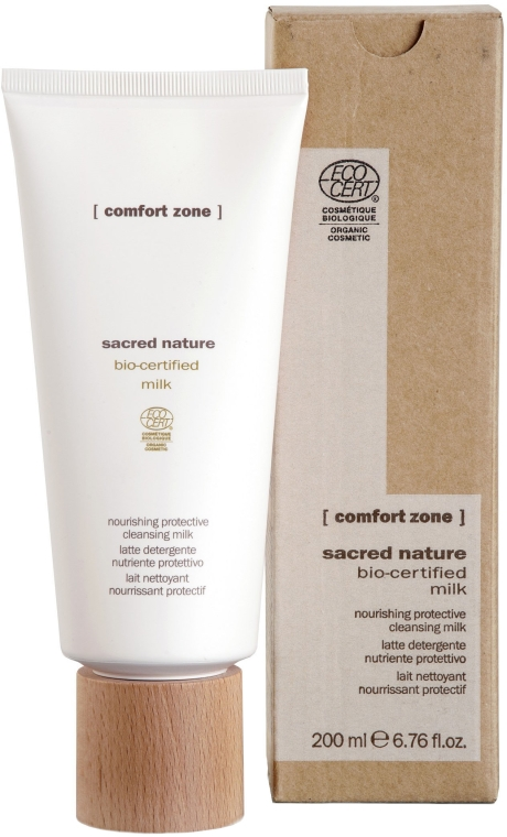 Tonizujące mleczko do demakijażu - Comfort Zone Sacred Nature Bio-Certified Cleansing Milk — фото N1