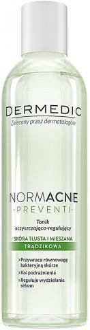 Oczyszczająco-regulujący tonik do skóry tłustej, mieszanej i trądzikowej - Dermedic NormAcne Preventi