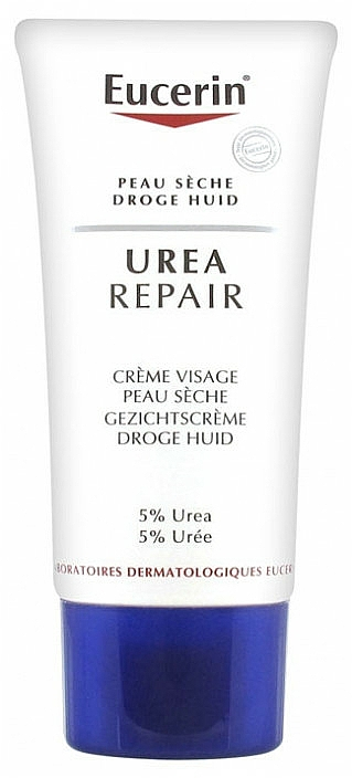 Zmiękczający krem do twarzy - Eucerin UreaRepair Face Cream 5% Urea — фото N2