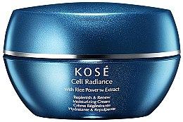 Kup Regenerujący krem nawilżający do twarzy z ekstraktem z ryżowego pudru - Kose Cell Radiance Cream Rice Power Extract