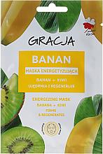 Kup PRZECENA! Energetyzująca maska na tkaninie do twarzy Banan + kiwi - Gracja Energizing Mask *