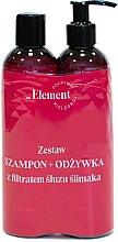 Kup Zestaw do włosów z filtratem ze śluzu ślimaka - _Element Snail Slime Filtrate (shm 150 ml + cond 150 ml)