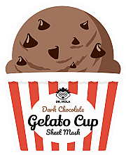 Kup Wygładzająco-rewitalizująca maska na tkaninie do twarzy - Dr. Mola Dark Chocolate Gelato Cup Sheet Mask