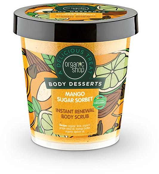 Odnawiający scrub do ciała Cukrowy sorbet mango - Organic Shop Body Desserts Mango Sugar Sorbet