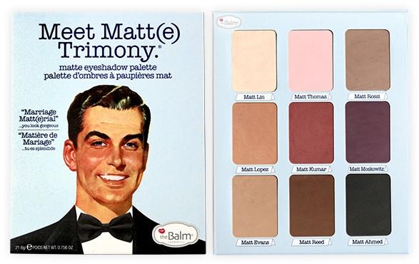 Paleta 9 cieni do powiek - theBalm Meet Matt(e) Trimony Matte Eyeshadow Palette