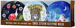 Kup Zestaw odżywczych maseczek do twarzy na noc - SeaNtree Snail Steam Sleeping Mask Set (3 x f/mask 35 g)