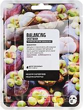 Kup Normalizująca maska do twarzy na tkaninie Mangostan - Superfood For Skin Balancing Sheet Mask