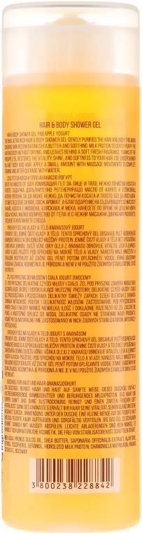 Naturalny żel pod prysznic do ciała i włosów Jogurt ananasowy - Stani Chef's Pineapple Yogurt Hair & Body Shower Gel — фото N2