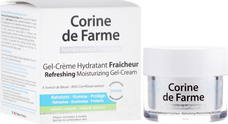Odświeżający nawilżający żel-krem do skóry normalnej i mieszanej - Corine de Farme — фото N1