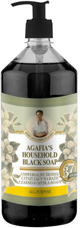 Uniwersalne czarne mydło w płynie do prac domowych - Receptury Babci Agafii Zioła i zbiory
