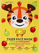 Kup Rewitalizująca maska na tkaninie do twarzy z ekstraktem z jabłka i truskawki Tygrysek - 7th Heaven Face Food Tiger Face Mask Apple & Strawberry