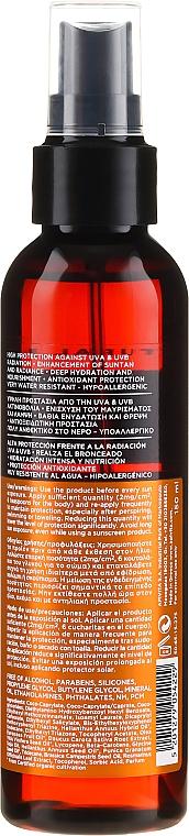 Olejek w sprayu do opalania Słonecznik i marchewka SPF30 - Apivita Suncare Sunbody Tanning Body Oil  — фото N2