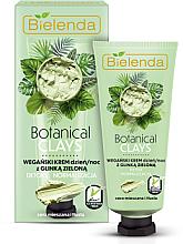 Kup Wegański krem na dzień i noc z glinką zieloną do cery mieszanej i tłustej Detoks i normalizacja - Bielenda Botanical Clays Vegan Day Night Cream Green Clay
