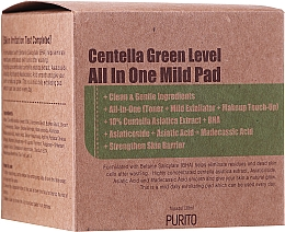 Kup Nawilżające płatki złuszczające do twarzy - Purito Centella Green Level All In One Mild Pad