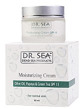 Kup PRZECENA! Nawilżający krem do twarzy Oliwa, papaja i zielona herbata SPF 15 - Dr. Sea Moisturizing Cream With Olive Oil, Papaya And Green Tea Extracts *