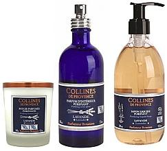 Kup Zestaw - Collines De Provence Natural Lavender (soap/300ml + candle/180g + spray/100ml)