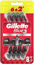 Kup Jednorazowe maszynki do golenia, 6 + 2 szt. - Gillette Blue3 Nitro