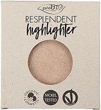 Kup PuroBio Cosmetics Resplendent Highlighter - Rozświetlacz do twarzy (wymienny wkład)