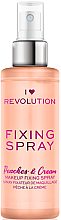Kup Utrwalacz makijażu w sprayu - I Heart Revolution Fixing Spray Peaches & Cream