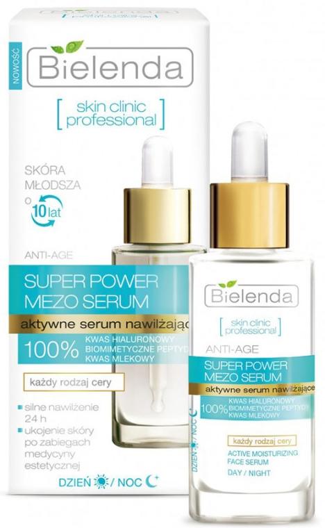 Aktywne serum nawilżające na dzień i noc - Bielenda Skin Clinic Professional Mezo Serum Anti-age
