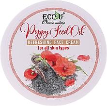 Kup Odświeżający krem do twarzy z olejem z nasion maku do każdego typu cery - Eco U Poppy Seed Oil Refreshing Face Cream For All Skin Type