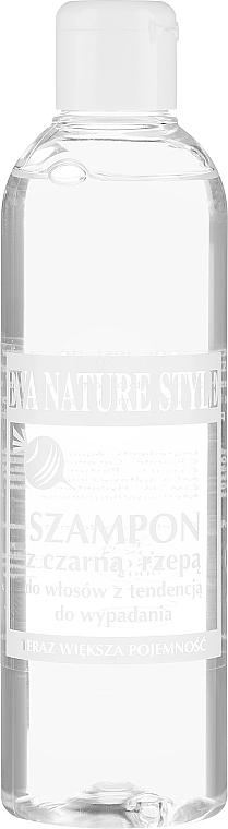 Szampon z czarną rzepą do włosów - Eva Natura Nature Style Shampoo With Black Turnip