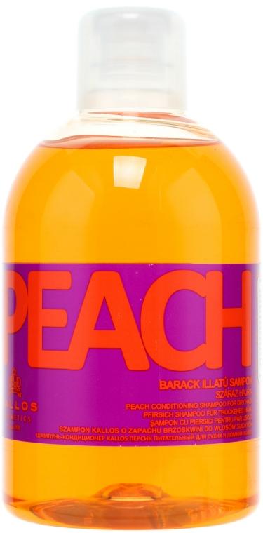 Szampon brzoskwiniowy do włosów suchych - Kallos Cosmetics Peach Shampoo — фото N1