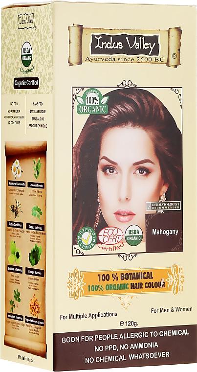 Organiczna farba do włosów z henną - Indus Valley 100% Botanical Hair Colour — фото N1