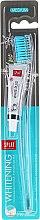 Kup Wybielająca szczoteczka do zębów, średnia twardość, niebieska + minipasta - SPLAT Whitening