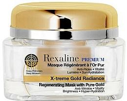 Kup Odmładzająca maska do twarzy z drobinkami 24K złota - Rexaline Line Killer X-Treme Gold Radiance Mask