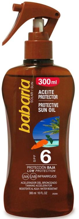 Olejek do opalania SPF 6 - Babaria Protective Sun Oil Spf6 — фото N1