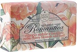 Kup Naturalne mydło w kostce Kwiat wiśni i bazylia - Nesti Dante Romantica