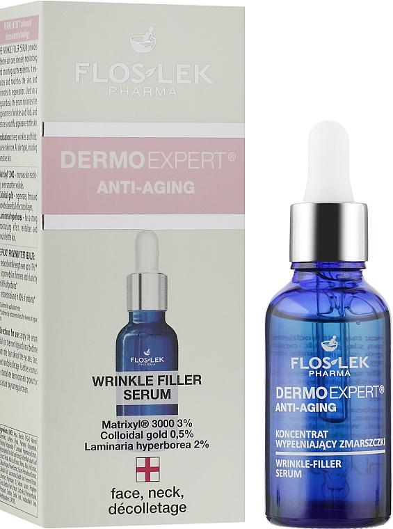 Wypełniający zmarszczki koncentrat na twarz, szyję i dekolt - Floslek Dermo Expert