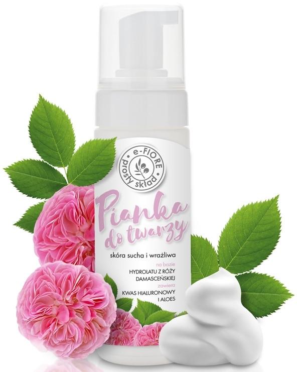 Pianka do twarzy na bazie hydrolatu z róży damasceńskiej do skóry suchej i wrażliwej - E-Fiore — фото N3