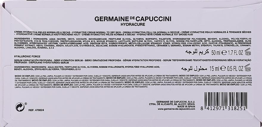 Zestaw - Germaine de Capuccini HydraCure Normal Dry Skin (ser/15ml + cr/50ml) — фото N4