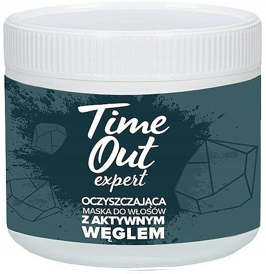 Oczyszczająca maska do włosów z aktywnym węglem - Time Out  — фото N1