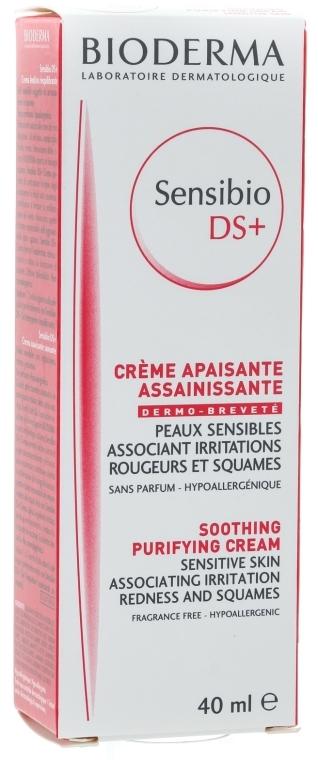 Wygładzający krem zmiękczający przeciw podrażnieniom - Bioderma Sensibio DS+ Soothing Purifying Cleansing Cream
