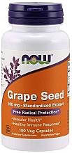Kup Suplement diety z ekstraktem z pestek winogron w kapsułkach, 100 mg - Now Foods Grape Seed 100mg Standardized Extract