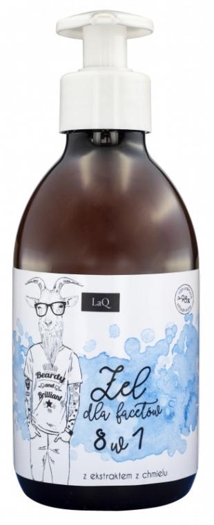 Żel pod prysznic dla mężczyzn 8 w 1 z ekstraktem z chmielu - LaQ