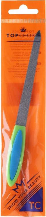Pilnik szafirowy do paznokci, 17 cm, 77173, zielono-niebieski - Top Choice — фото N1