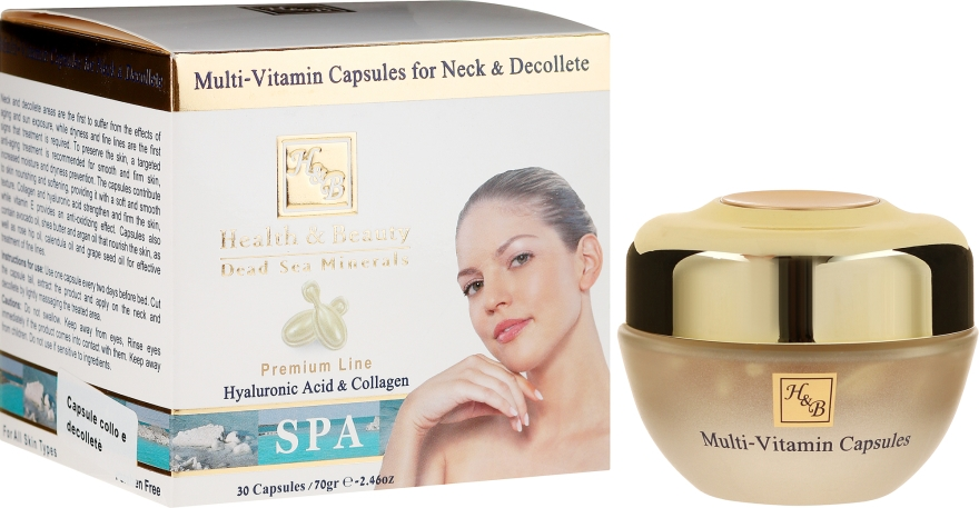 Kapsułki multiwitaminowe do szyi i dekoltu - Health And Beauty Multi-Vitamin Capsules For Neck And Decollete