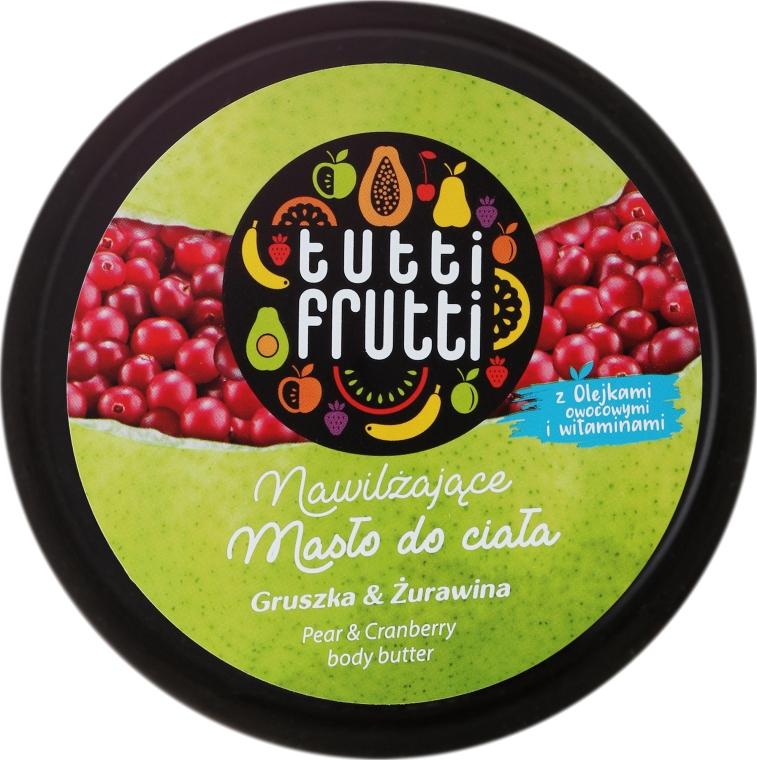 Nawilżające masło do ciała Gruszka i żurawina - Farmona Tutti Frutti Pear & Cranberry