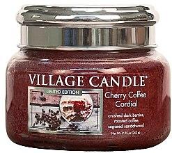 Świeca zapachowa w słoiku - Village Candle Cherry Coffee Cordial Glass Jar — фото N1